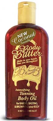 Body Butter Oil Tanning Accelerator New Coconut Scent