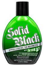 SOLID BLACK HYPOALLERGENIC TAN MAXIMIZER with HEMP - 13.5 oz.
