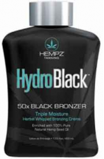 Hempz HYDRO BLACK Herbal 50 X Tanning Bronzer Lotion -13.5 oz.