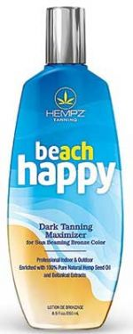 Hempz BEACH HAPPY Dark Tanning Maximizer - 8.5 oz.