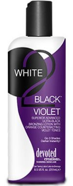 ~SALE~Devoted Creations WHITE 2 BLACK VIOLET - 8.5 oz.