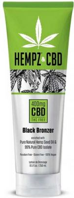 Hempz CBD Black Bronzer by Supre - 8.5 oz.